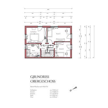 Grundriss Obergeschoss Haus 1
