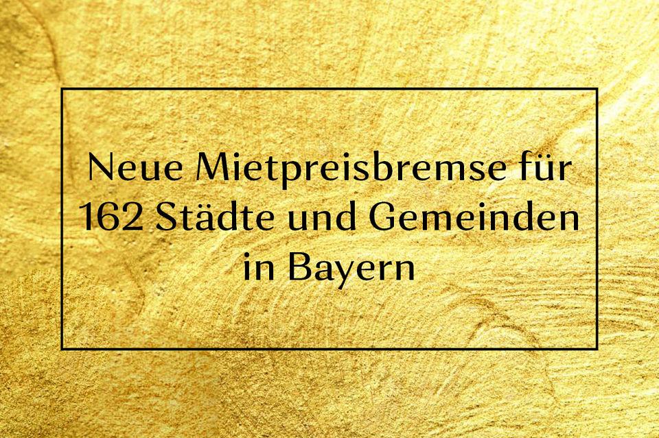 Mietpreisbremse Bayern