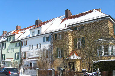 Nymphenburg: Reihenhausgruppe Laimer Str. 14