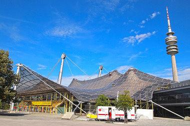 Olympiapark: Sporthalle Spiridon-Louis-Ring 21