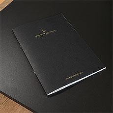 hochwertig gedruckte Objektbroschüre
